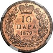 10 Para - Milan Obrenović IV – reverse