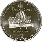 100 Dinara (Nikola Tesla) – obverse