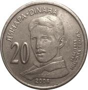 20 Dinara (Nikola Tesla) – reverse