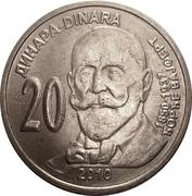 20 Dinara (Đorđe Vajfert) – reverse
