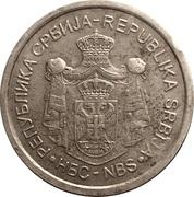10 Dinara (2nd coat of arms) – obverse