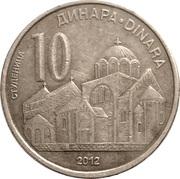 10 Dinara (2nd coat of arms) – reverse