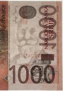 1,000 Dinara (1st coat of arms) -  obverse