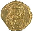 Fractional Dinar - al-Mu'tadid 'Abbad ibn Muhammad (Abbadid dynasty - 1023-1095 AD) – obverse