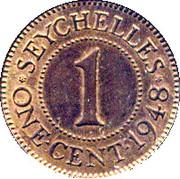 1 Cent - George VI – reverse