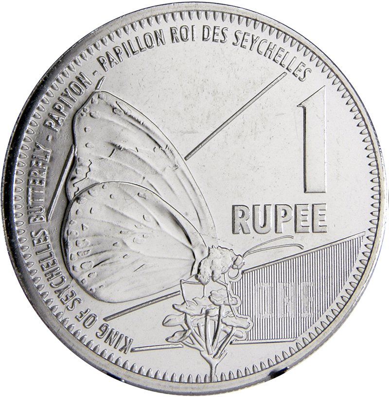 2016 1 Rupee Butterfly Seychelles Coin Brilliant Uncirculated