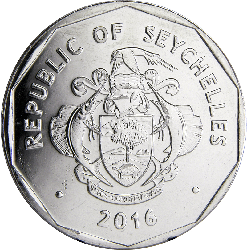 SEYCHELLES 1 CENT FROG 2016 COIN UNC