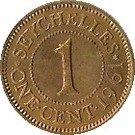 1 Cent - Elizabeth II (1st portrait) – reverse