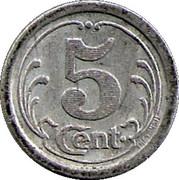 5 Centimes (Sézanne) – reverse