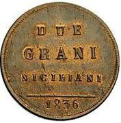 2 Grani - Ferdinando II – reverse