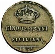 5 Grani - Ferdinando II – reverse