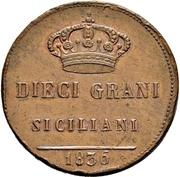 10 Grani - Ferdinando II – reverse