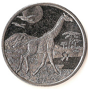 1 Dollar (Giraffe) – reverse