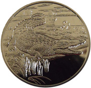 1 Dollar (Crocodile) – reverse