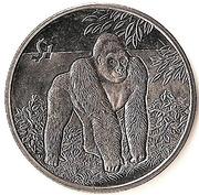 1 Dollar (Gorilla) – reverse