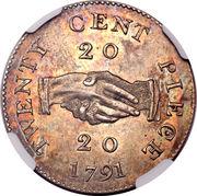 20 Cents (Sierra Leone Company) – reverse