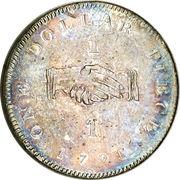 """1 Dollar  (Sierra Leone Company; type """"1"""") – reverse"""
