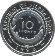 10 Leones -  reverse