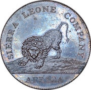 1 Penny (Sierra Leone Company; larger type) – obverse