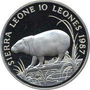 10 Leones (World Wildlife Fund) – obverse