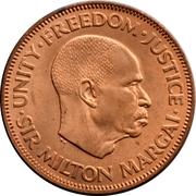 Sierra Leone 0.5 Cent(1//2 km16 1964 African coin.