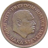 ½ Cent – obverse