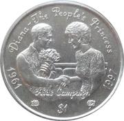 1 Dollar (Princess Diana-Aids Campaign) – reverse