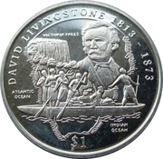 1 Dollar (David Livingstone) – reverse