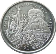 1 Dollar (Amerigo Vespucci) – reverse