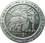 1 Dollar (Elephants) – reverse