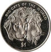 1 Dollar (Lion Couple) – reverse