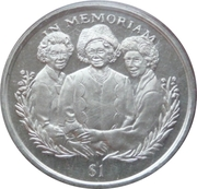 1 Dollar (Queen Mother and Daughters) – reverse