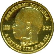 50 Dollars (Nelson Mandela) – reverse