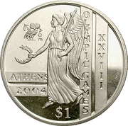 1 Dollar (Olympics) – reverse