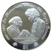 1 Dollar (Diana-The People's Princess) – reverse