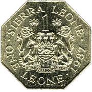 1 Leone – obverse