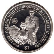 1 Dollar (Elizabeth II Golden Jubilee) – reverse