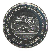 1 Leone (Bank Anniversary) – reverse