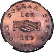"""1 Dollar (Sierra Leone Company; type """"100"""") – reverse"""
