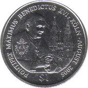 1 Dollar (Pope Benedict XVI) – reverse