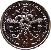 1 Dollar (The Wedding of Prince Edward) – reverse