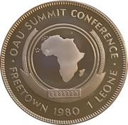 1 Leone (O.A.U. Summit Conference) – reverse