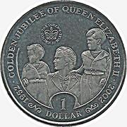 1 Dollar (Golden Jubilee) – reverse