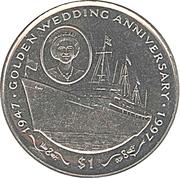 1 Dollar (Golden Wedding) – reverse