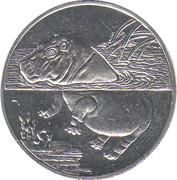 1 Dollar (Hippo) – reverse