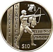 10 Dollars (XXVIII Summer Olympics) – reverse