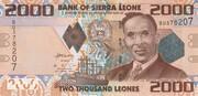 2000 Leones – obverse