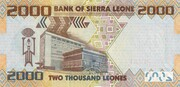 2000 Leones – reverse