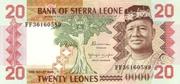 20 Leones – obverse