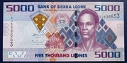 5000 Leones – obverse